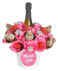 Thank You Strawberry Sparkling Chocolate Bouquet