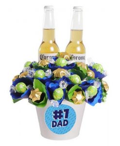 #1 Dad Corona Chocolate Bouquet Medium
