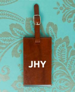 Personalised Initials Brown Luggage Tag