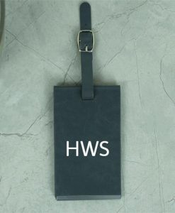 Grey Personalised Initials Luggage Tag