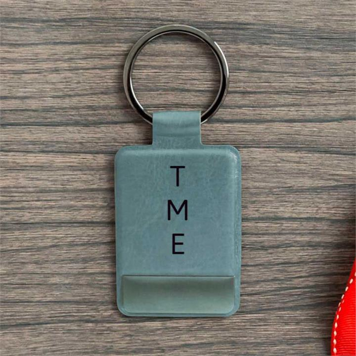 Personalised Initials Grey Key Ring