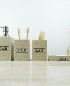 Monogram Mullite Sand Bathroom Set