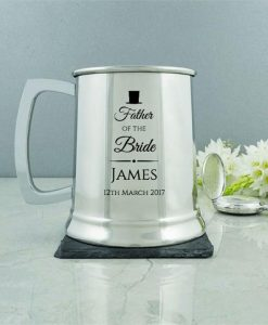 Father's Classic Wedding Tankard