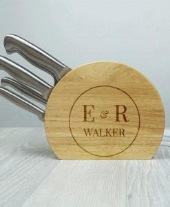 Personalised 5pc Stainless Knife Set For Couples