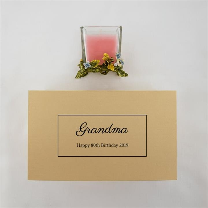 Personalised Message Pink Candle