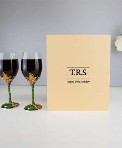 Personalised Crystal Wine Glasses Butterfly Set
