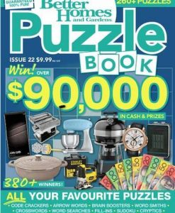 Better Homes and Gardens Puzzle Book Magazine 12 Month Subscription