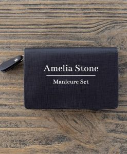 Omuda Personalised Leather Manicure Set