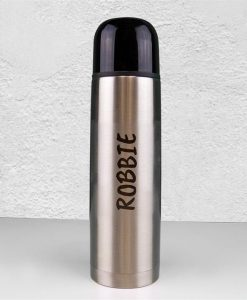 Your Name Silver Vacuum Flask