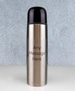 Personalised Silver Thermal Flask