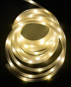 100 LED Frosted White USB Rope Light - 5m