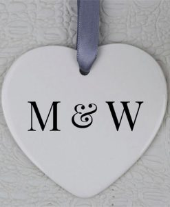 Personalised Initials Heart Ornament