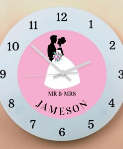 Bride & Groom Wall Clock