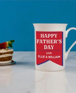 Retro Father's Day Bone China Mug