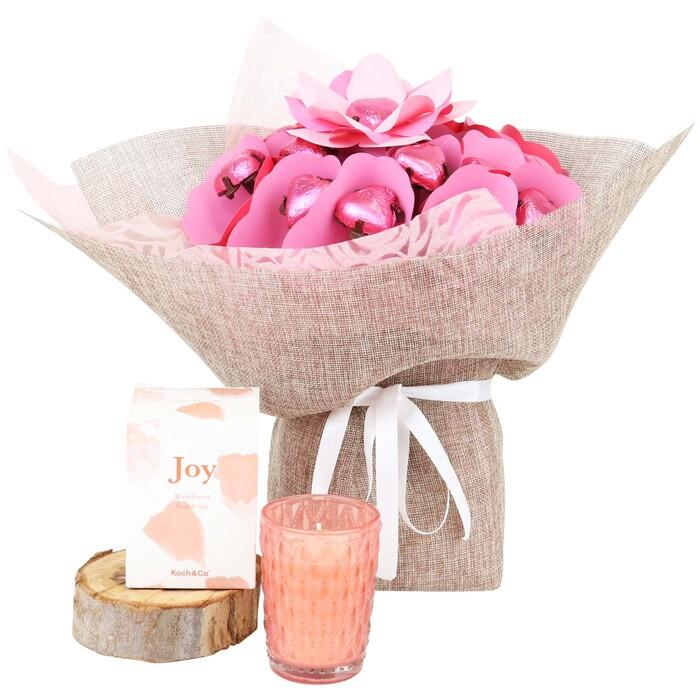 Magical Blush Rose Candle Bouquet