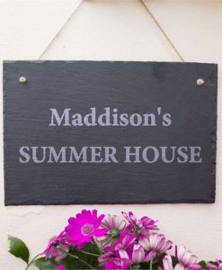 Their Summer House Personalised Slate Sign