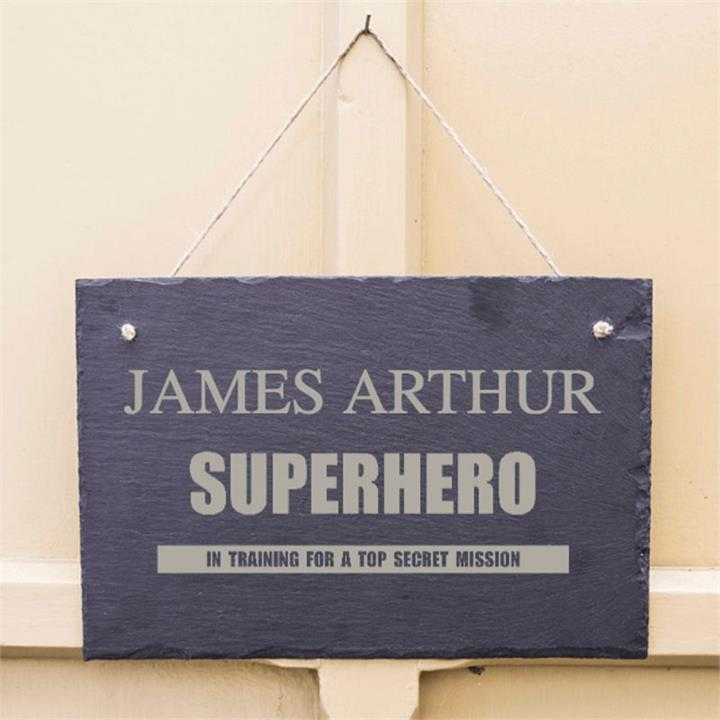Superhero Personalised Slate Sign
