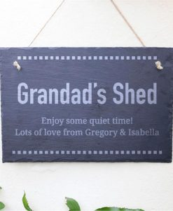Grandad's Shed Personalised Slate Sign