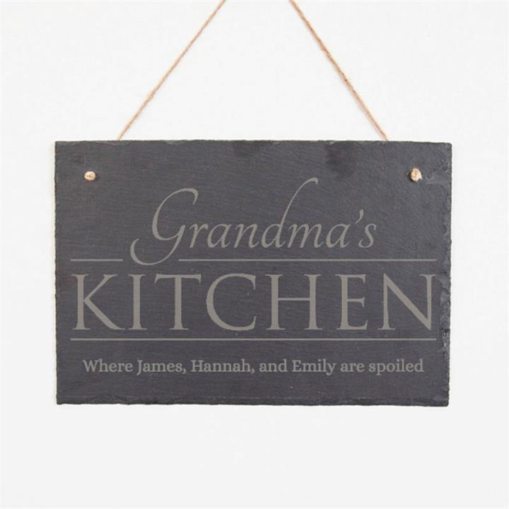 Grandma's Kitchen Personalised Slate Sign