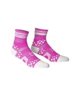 Compressport FLUO Running Socks - Pink