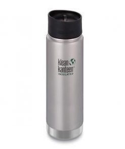 Klean Kanteen 20oz Wide Vacuum Insulated Bottle - Cafe Cap - Stainless