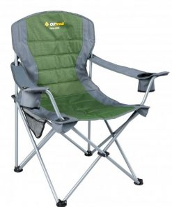 OZtrail Deluxe Jumbo Arm Chair - Green