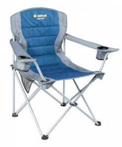 OZtrail Deluxe Jumbo Arm Chair - Blue