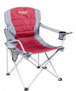 OZtrail Deluxe Jumbo Arm Chair - Red