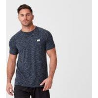 Performance Short-Sleeve Top - S - Navy Marl