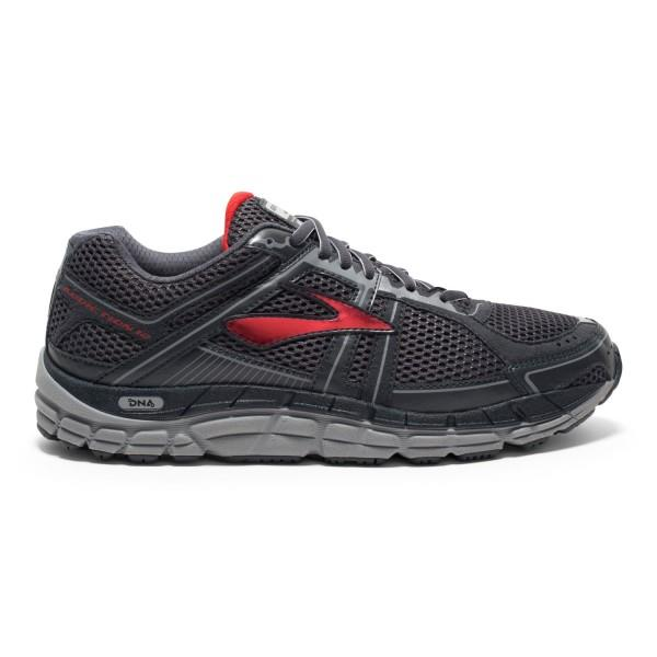 Brooks Addiction 12 (2E/4E) - Mens Running Shoes - Anthracite/Red/Silver