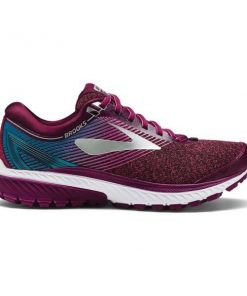 Brooks Knitted Ghost 10 - Womens Running Shoes - Purple/Pink/Teal