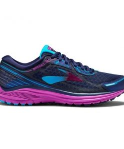 Brooks Aduro 5 - Womens Running Shoes - Evening Blue/Purple Cactus Flower/Teal Victory