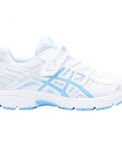 Asics Contend 4 PS - Kids Girls Running Shoes - White/Blue Bell