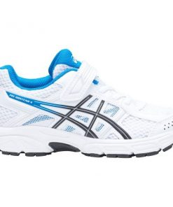 Asics Contend 4 PS - Kids Boys Running Shoes - White/Race Blue