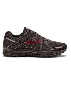 Brooks Knitted Adrenaline GTS 17 - Mens Running Shoes - Port/Charcoal/Black