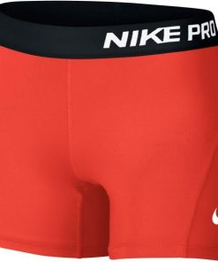 Nike Pro Kids Girls Training Shorts - Max Orange/Black/White
