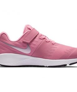 Nike Star Runner PSV - Kids Girls Running Shoes - Elemental Pink/Metallic Silver