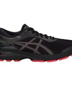 Asics Gel Kayano 25 Lite-Show - Mens Running Shoes - Black/Red + FREE SOCKS