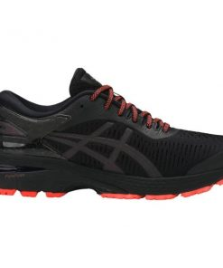 Asics Gel Kayano 25 Lite-Show - Womens Running Shoes - Black/Orange + FREE SOCKS