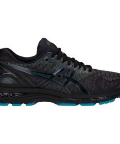 Asics Gel Nimbus 20 Lite-Show - Mens Running Shoes - Black/Blue + FREE SOCKS