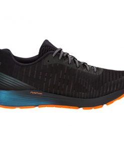 Asics DynaFlyte 3 Lite-Show - Mens Running Shoes - Black/Shocking Orange/Blue + FREE SOCKS