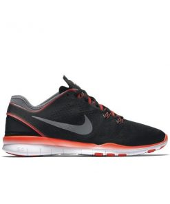 Nike Free 5.0 TR Fit 5 - Womens Training Shoes - Black/Bright Crimson/White/Dark Grey