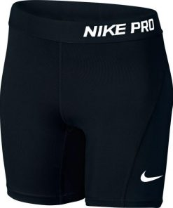 Nike Pro Cool Short Kids Girls Training Half Tights - Black/White