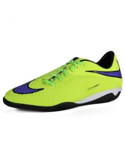 Nike Hypervenon Phelon IC - Mens Indoor Soccer Shoes - Volt/Persian Violet/Black