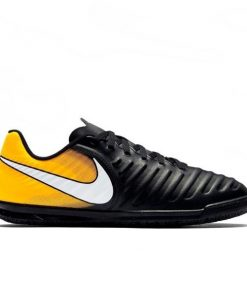 Nike Tiempo Rio IV IC - Kids Boys Indoor Soccer Shoes - Black/Yellow/White