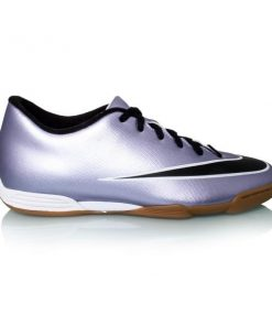 Nike Mercurial Vortex II IC - Kids Indoor Soccer Shoes - Urban Lilac/Black/Bright Mango/White