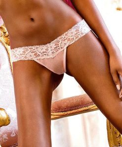 Baci Lace & Fishnet Thong