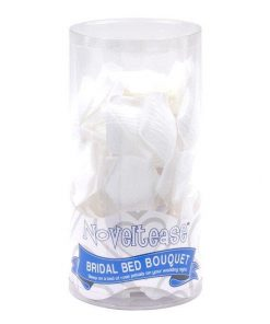 Bridal Bed Bouquet Rose Petals - White