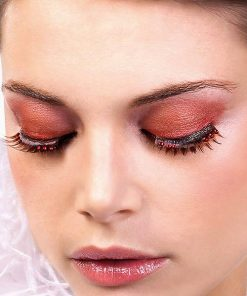 Baci Beige-Red Rhinestone Eyelashes