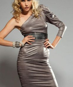 Forplay Lingerie One-Shoulder Metallic Dress
